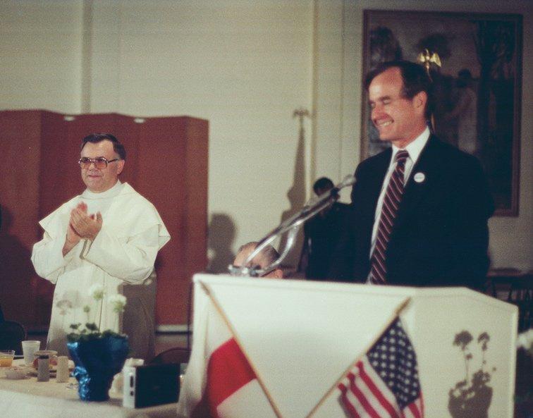 President George H. W. Bush at American Czestochowa