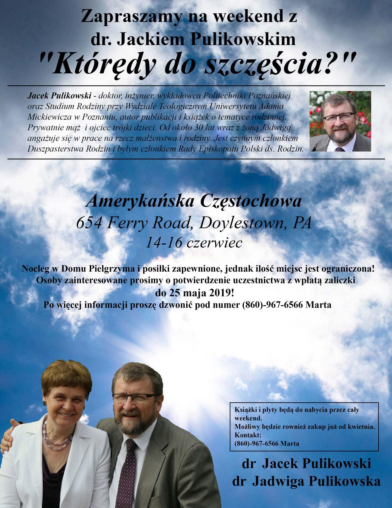 Weekend Retreat with Dr. Jacek Pulikowski (in Polish)
