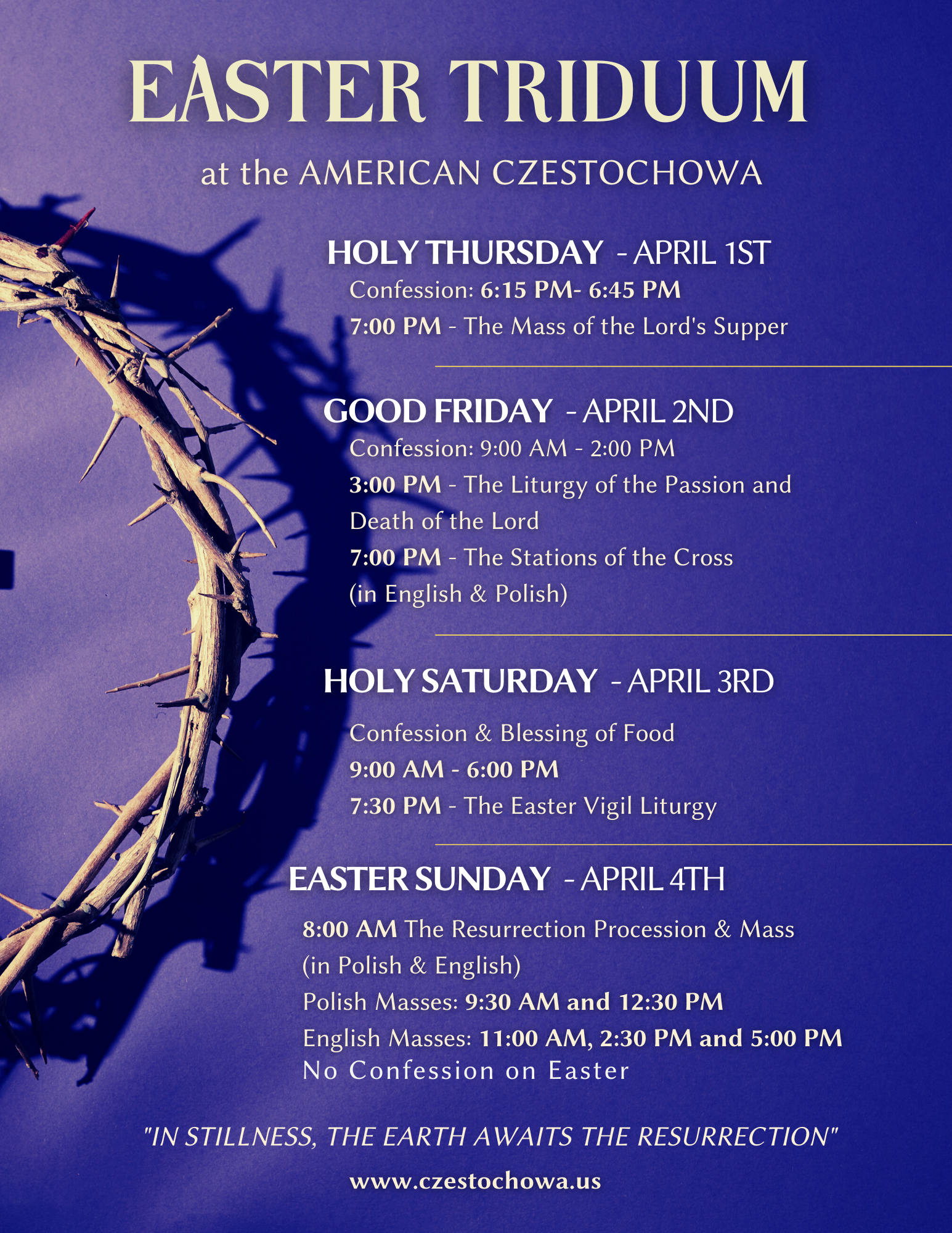 Easter Triduum at American Czestochowa